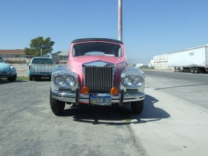 Front view of Rolls Royce restored for Liberace